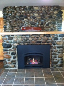 Warm yourself by our beautiful fireplace